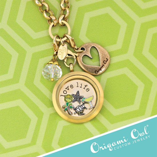 Love Life Gold Origami Owl Living Locket from StoriedCharms.blogspot.com