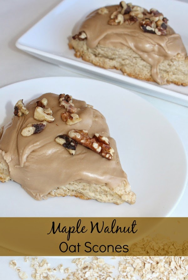 Maple Walnut Oat Scones