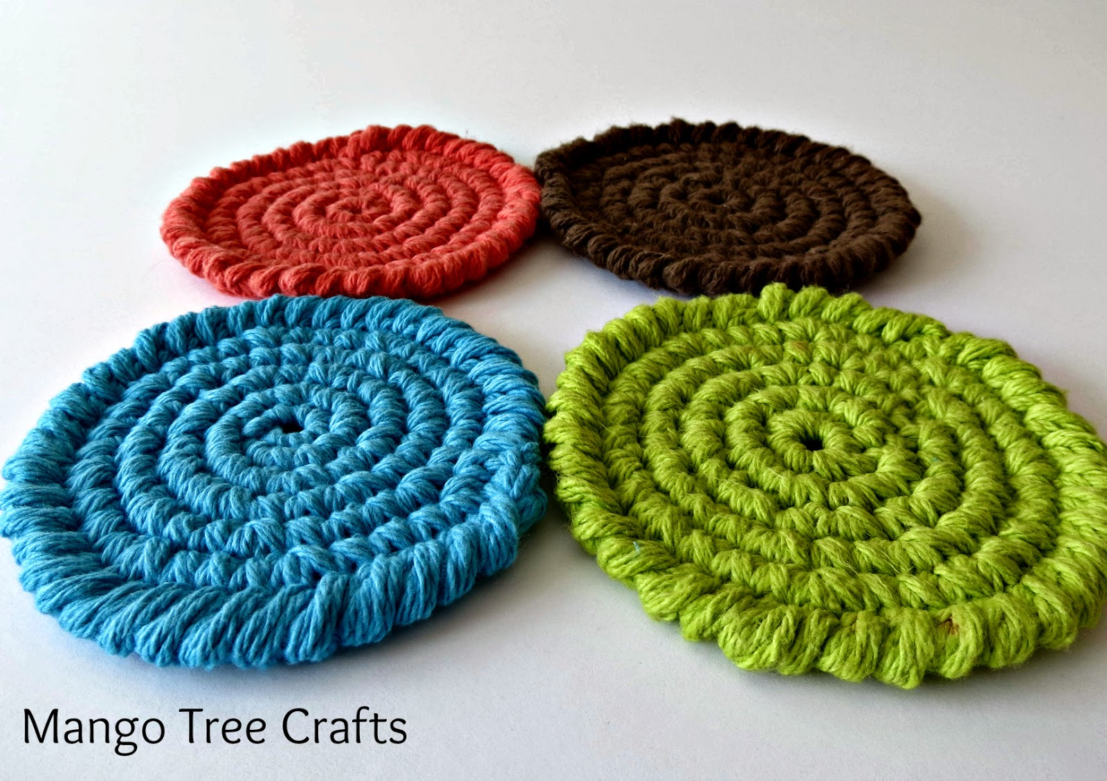 Free Crochet Pattern For Coaster : Mango Tree Crafts: Free Crochet Coasters Pattern