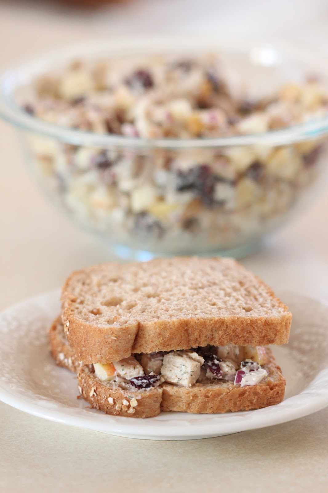 Cranberry Apple Pecan Chicken Salad Sandwiches | Tortillas and Honey