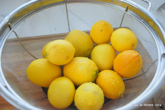 lemons for homemade lemonade