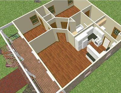 sketsa rumah sederhana 2014