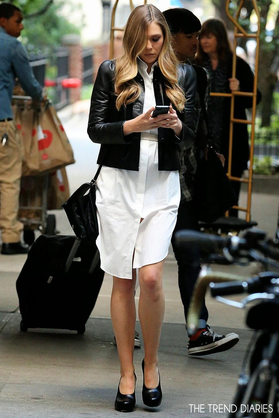 elizabeth olsen out in new york city new york september
