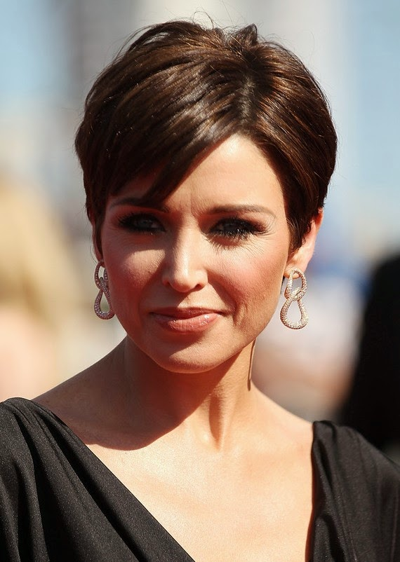 popular short hairstyle with bangs