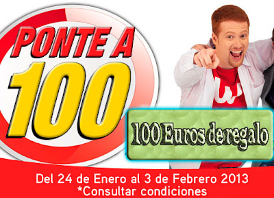Promoción Worten Ponte a 100 euros de regalo.