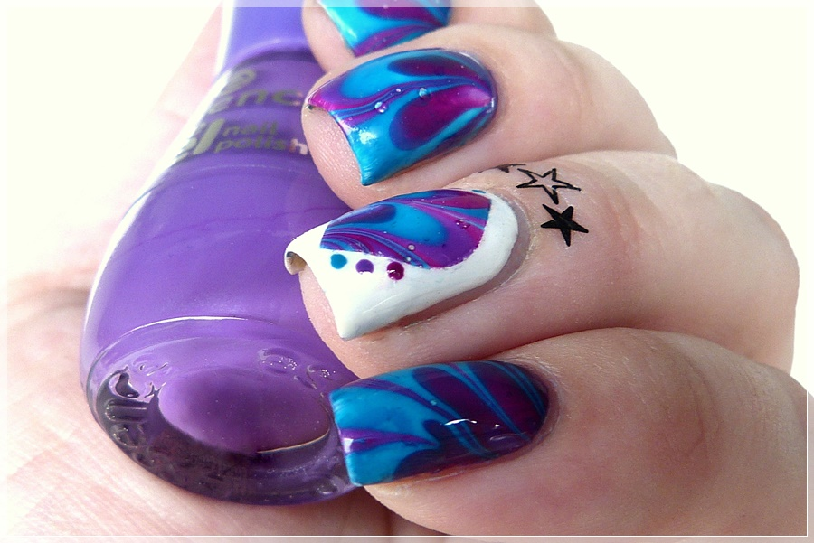 watermarbling blue purple