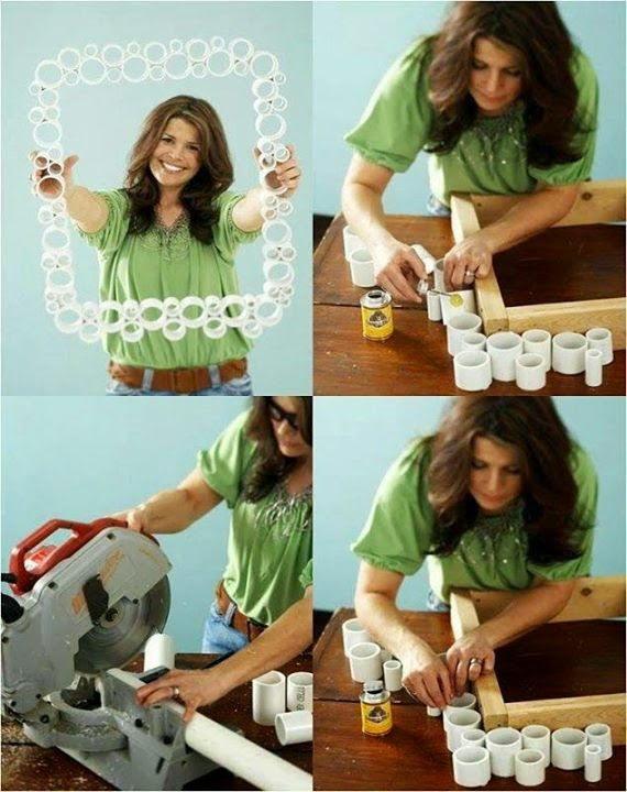 Easy Photo Frame Using Used Pipes Tutorial ...