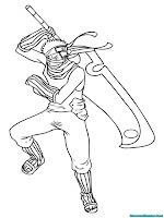 Mewarnai Gambar Zabuza Naruto Shippuden