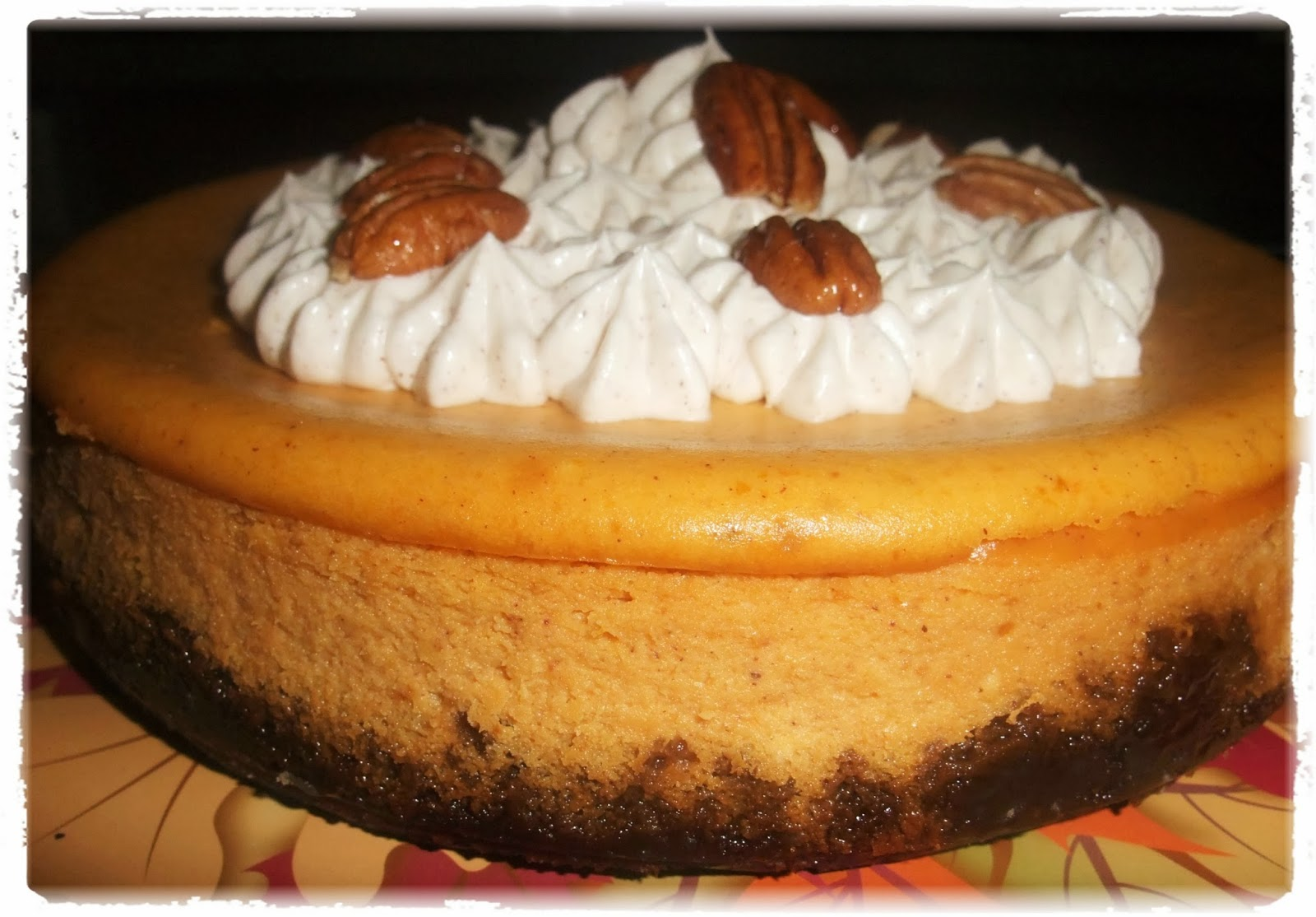 Rosie S Country Baking Pumpkin Cheesecake With Gingersnap