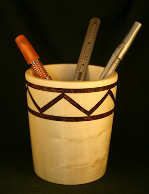 wood pencil cup