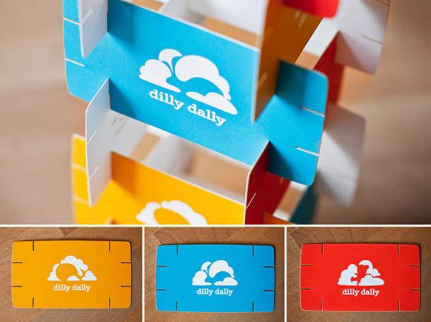 cartões de visita criativos - Dilly Dally