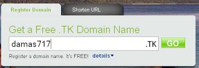 Cara Daftar domain Dot Tk