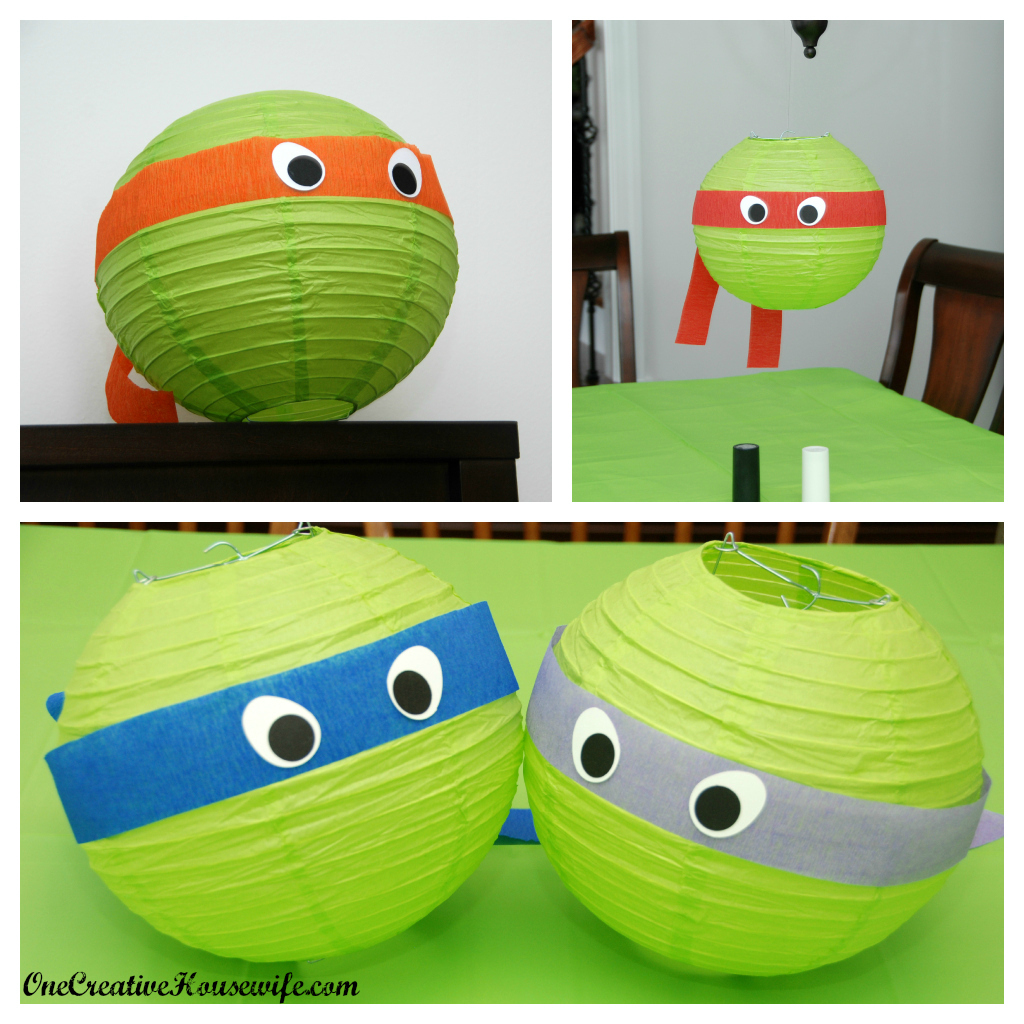 One creative housewife teenage mutant ninja turtle party for Tmnt decorations