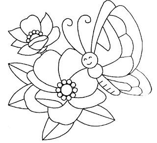 Riscos para pintura de flores