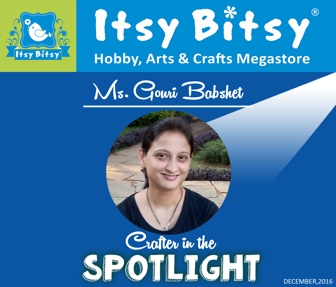Itsybitsy crafter in spotlight