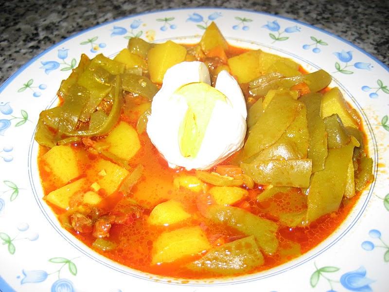 Cocinando para mis peques guiso de judias con chorizo - Judias con chorizo y patatas ...