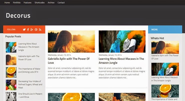 decorus news blogger template 2014 for blogger or blogspot