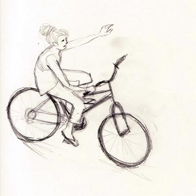 Skizze Fahrrad
