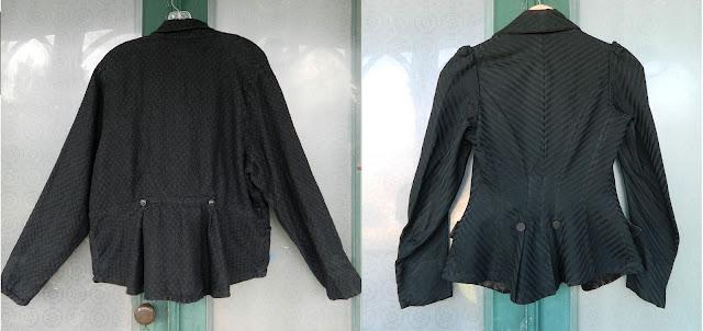 vintage flax, flax jacket, vintage peplum jacket
