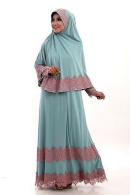 Model Baju Muslimah Gamis Syari Warna Biru