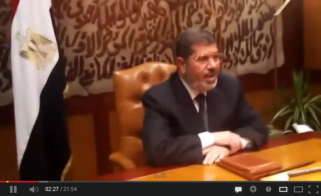 رسالة من السيد الرئيس محمد مرسي الي الشعب المصري 3-7-2013