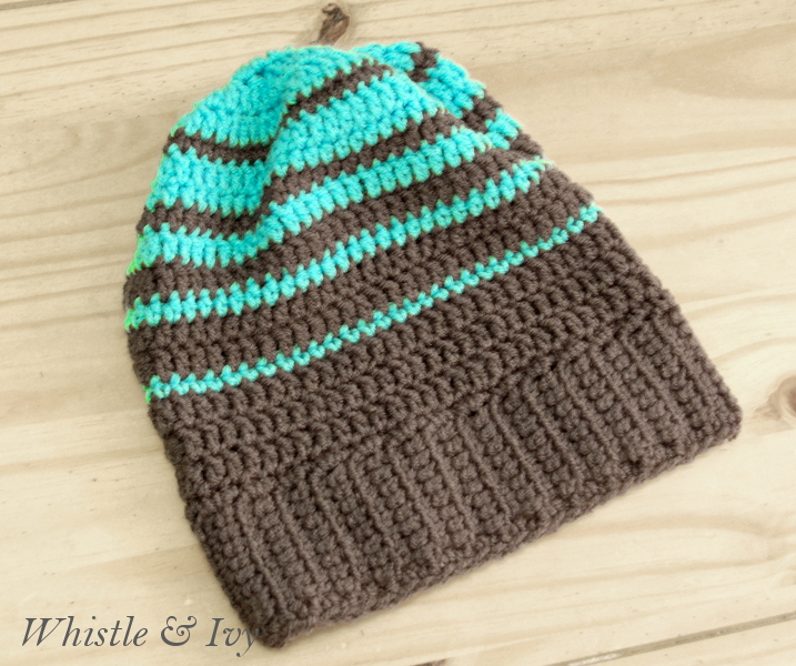 Striped Hipster Slouchy Beanie Whistle And Ivy