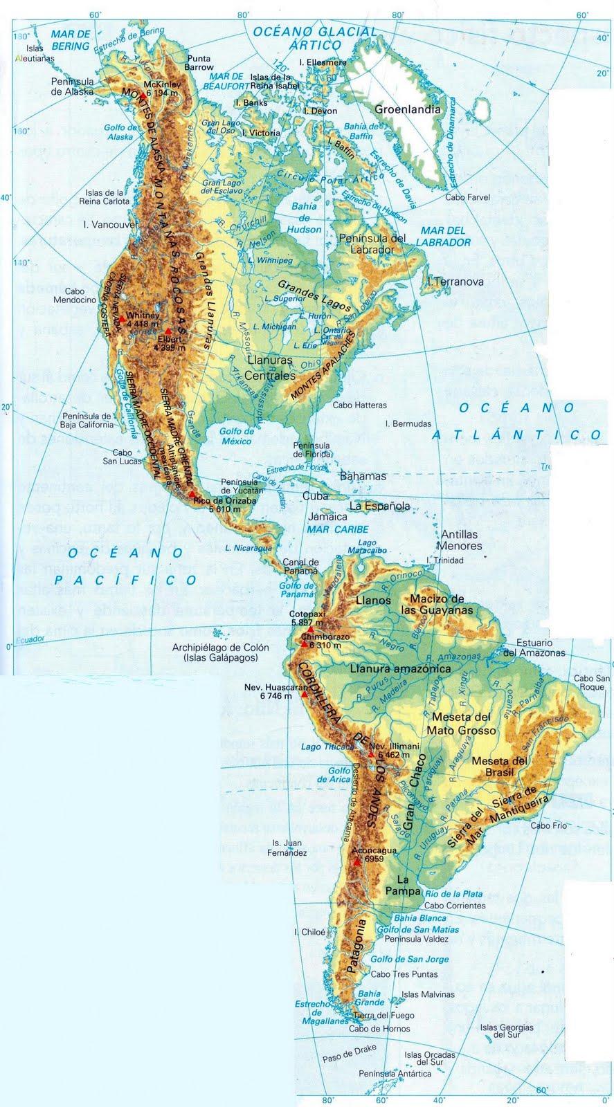 Blog de los ni os mapas de espa a y del mundo para ni os for America todo un inmenso jardin eso es america