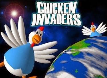 تحميل ، لعبة ، الفراخ ، فلاش ، تنزيل ، اون لاين ، لعبة الفراخ Chicken Invaders 4
