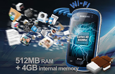 Samsung Galaxy Music Duos GT-S6012 dual SIM smart phone launches with 3 inch display, Android 4.0 and 850 MHz A9 Processor