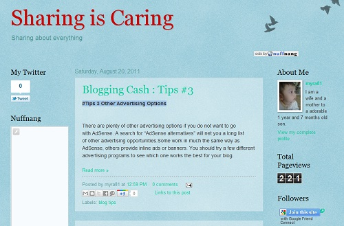 sharing is caring,sharing about everything,blogging cash tips,tips untuk blogging
