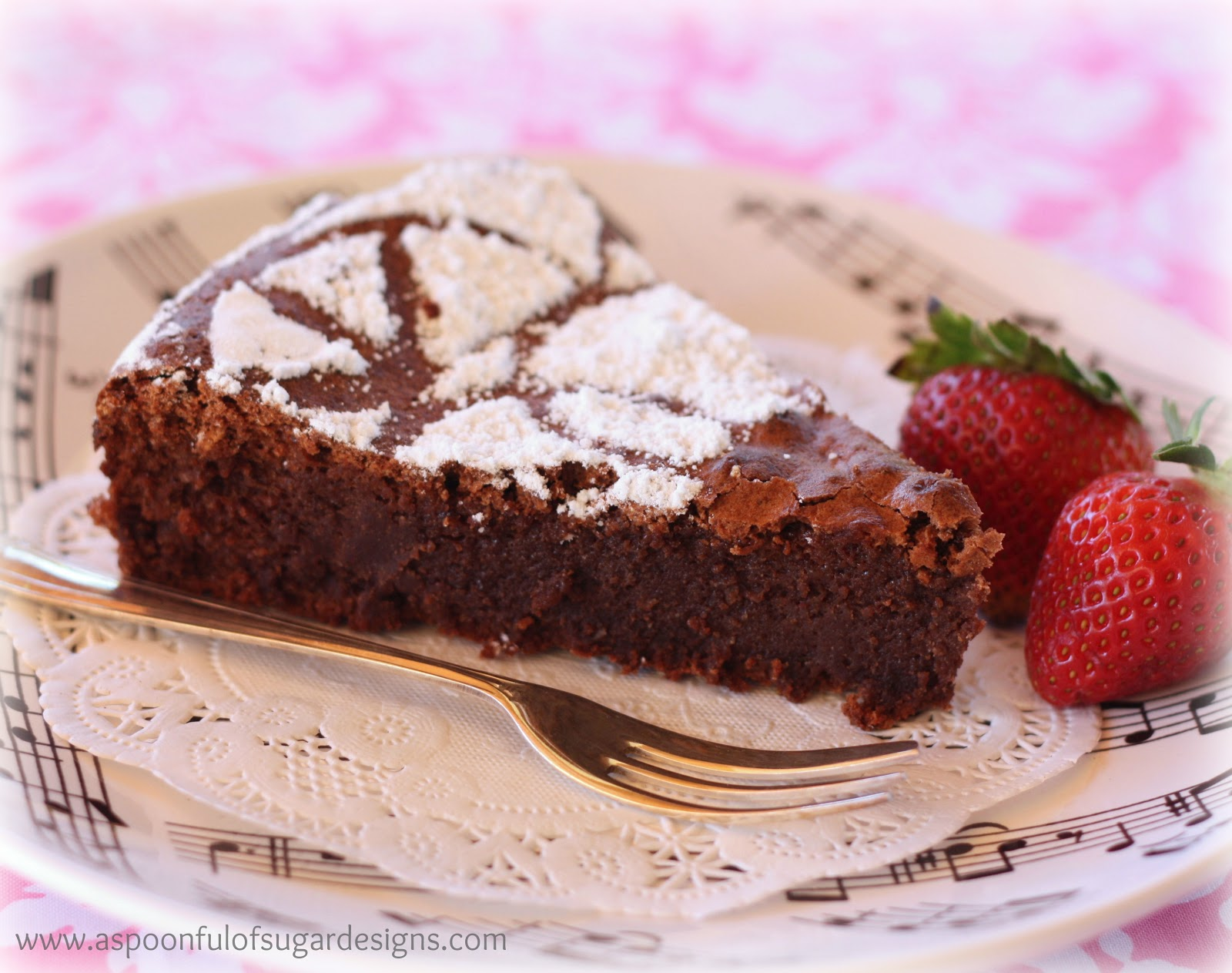 Flourless Chocolate Cake - A Spoonful of Sugar