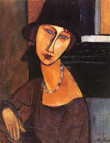 Bien-aimé kART à voir: n°074 Portrait de Jeanne Hébuterne (1919)Amedeo  YO92