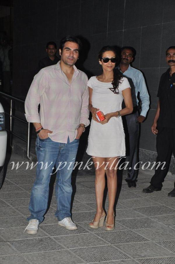 Arbaaz and Malika at hinduja hospital to see Shilpa and baby -  Arbaaz Malaika go to see Shilpa shetty at hospital