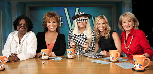 Lady Gaga dressed like Bear Bryant's hat today on The View on Monday.