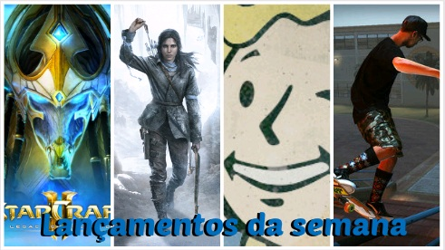 StarCraft II: Legacy of the Void, Rise of the Tomb Raider, Fallout 4, Tony Hawk's Pro Skater 5
