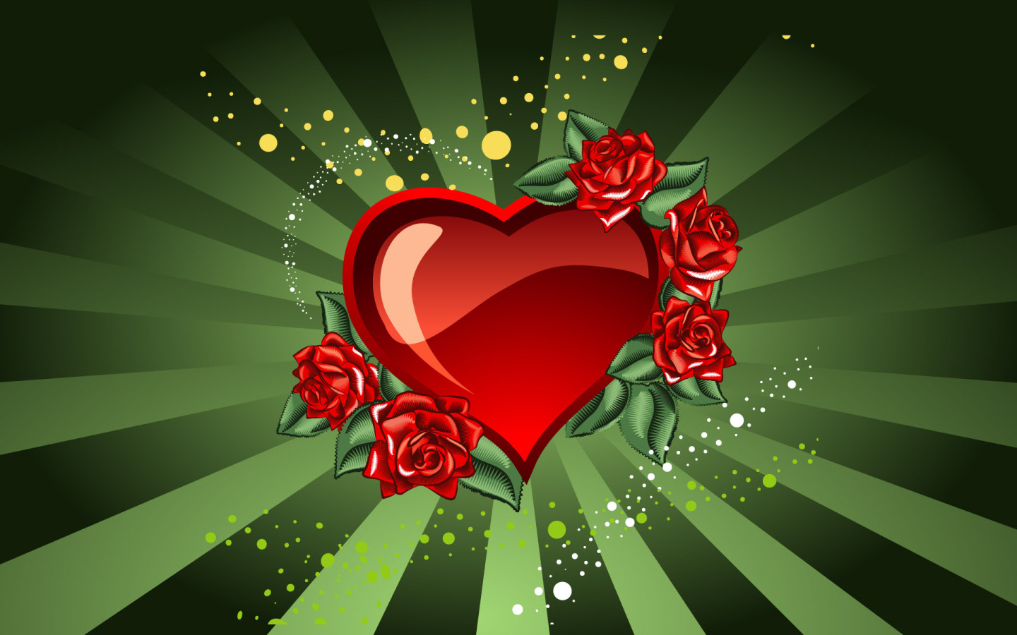 heart and roses background -#main