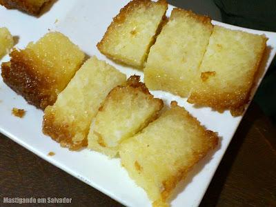 Lucca Cafés Especiais: Bolo Pudim de Tapioca (degustação)