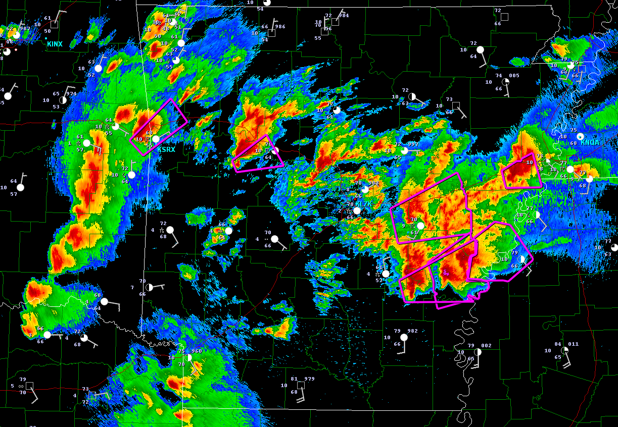 The Original Weather Blog: Severe Weather Update - Arkansas Region
