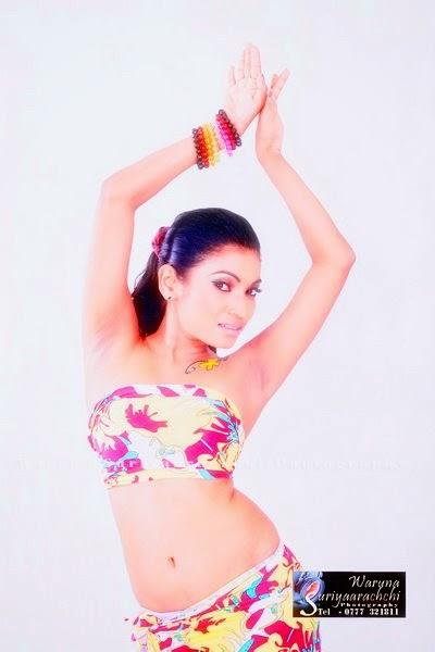 Sri Lankan model navel