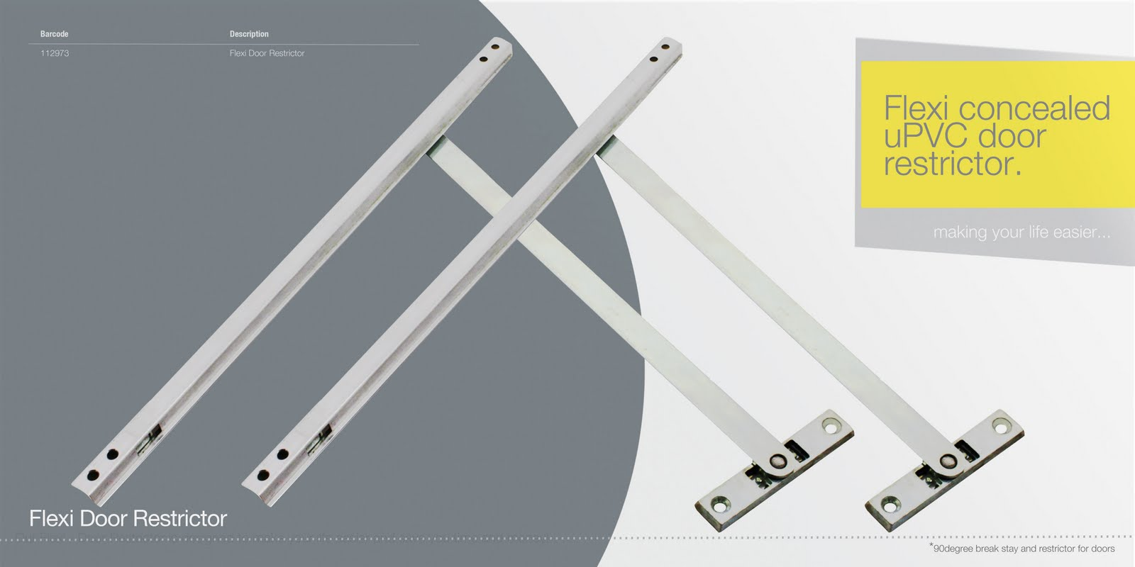 Windowparts ltd flexi concealed door restrictor making for Door opening restrictor