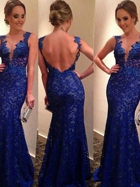 Trumpet Mermaid V-neck Sleeveless Applique Floor-length Lace Dresses