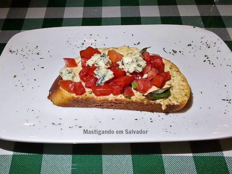Cantina Du Vini: Bruschetta de Salmão com Gorgonzola