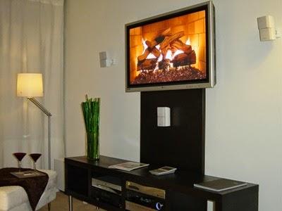 Камин визуализатор для телевизора Plasmavironments Fireplace DVD - огонь в вашем ТВ