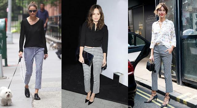 Celebrities wearing gingham pants