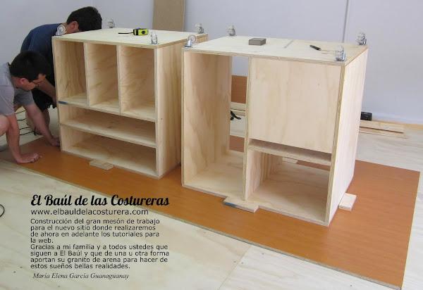 Mesa o banco de trabajo para costura - Mueble de costura ...