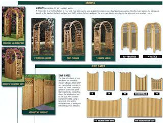 Схемы деревянного забора и входных арок. Фото 2
