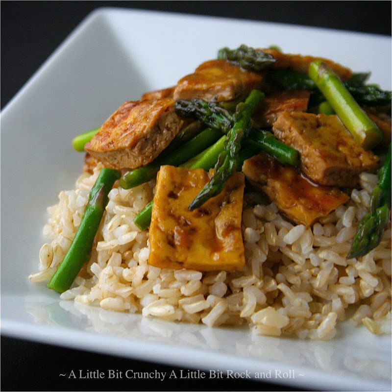 "... Little Bit Rock and Roll: ""Dry Fry"" Tofu Stir-Fry with Asparagus"
