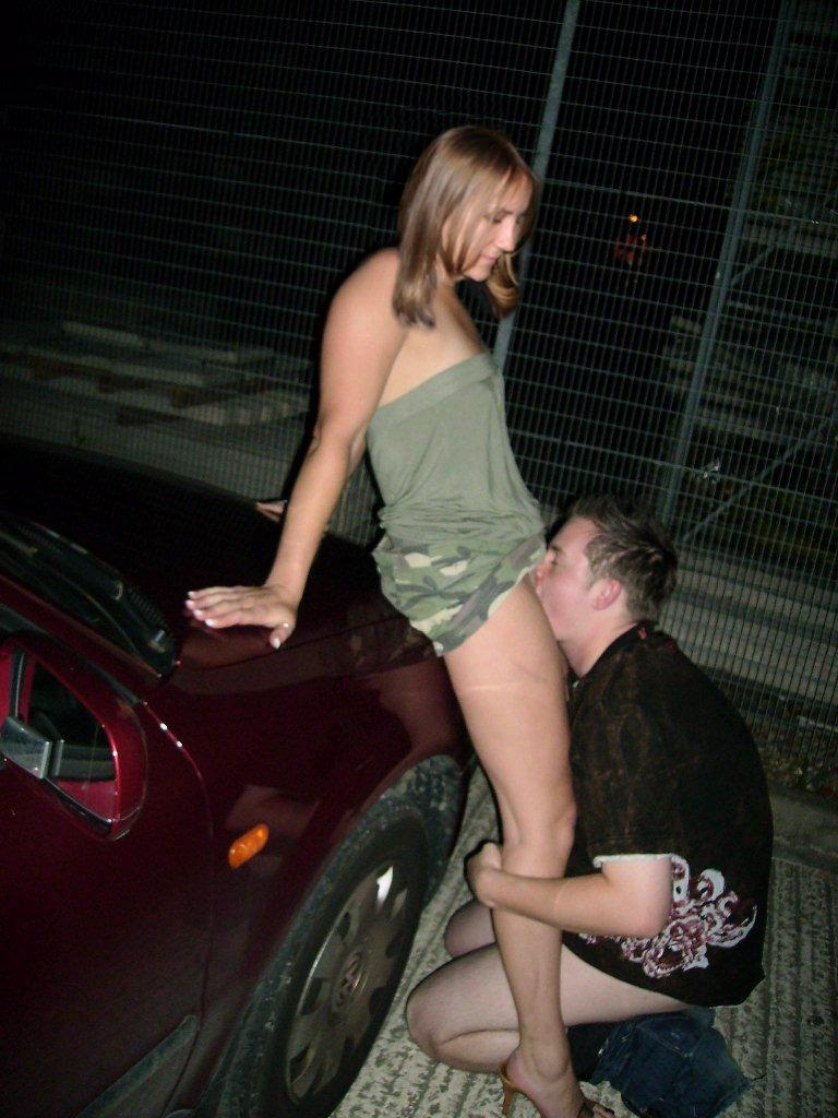Hot women having sex in public