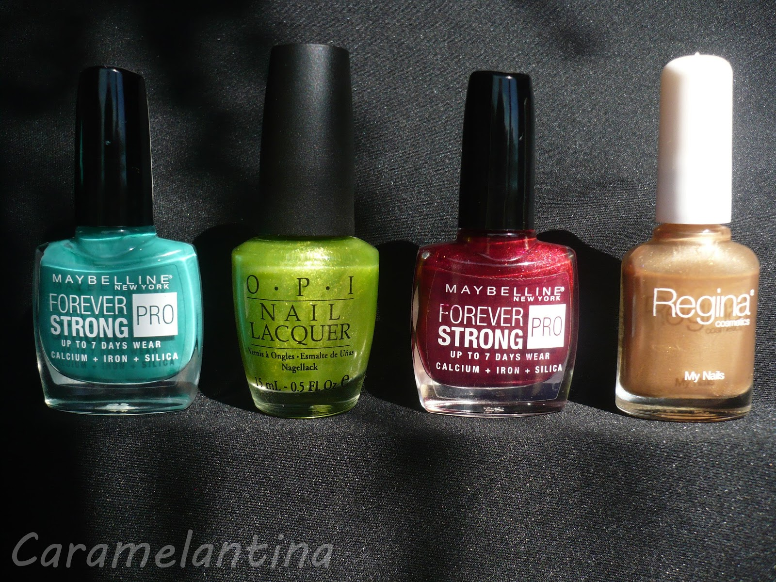 Maybelline Hyper Jade, Opi Call me cell-ery, Matbelline Rouge Volcanique. Regina Day