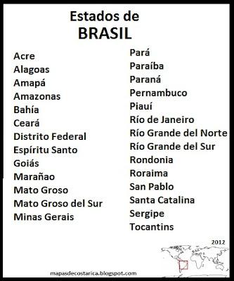 Departamentos de Brasil , organización territorial